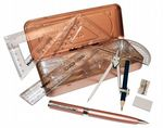 Helix Oxford Metallics Maths Set - Rose Gold